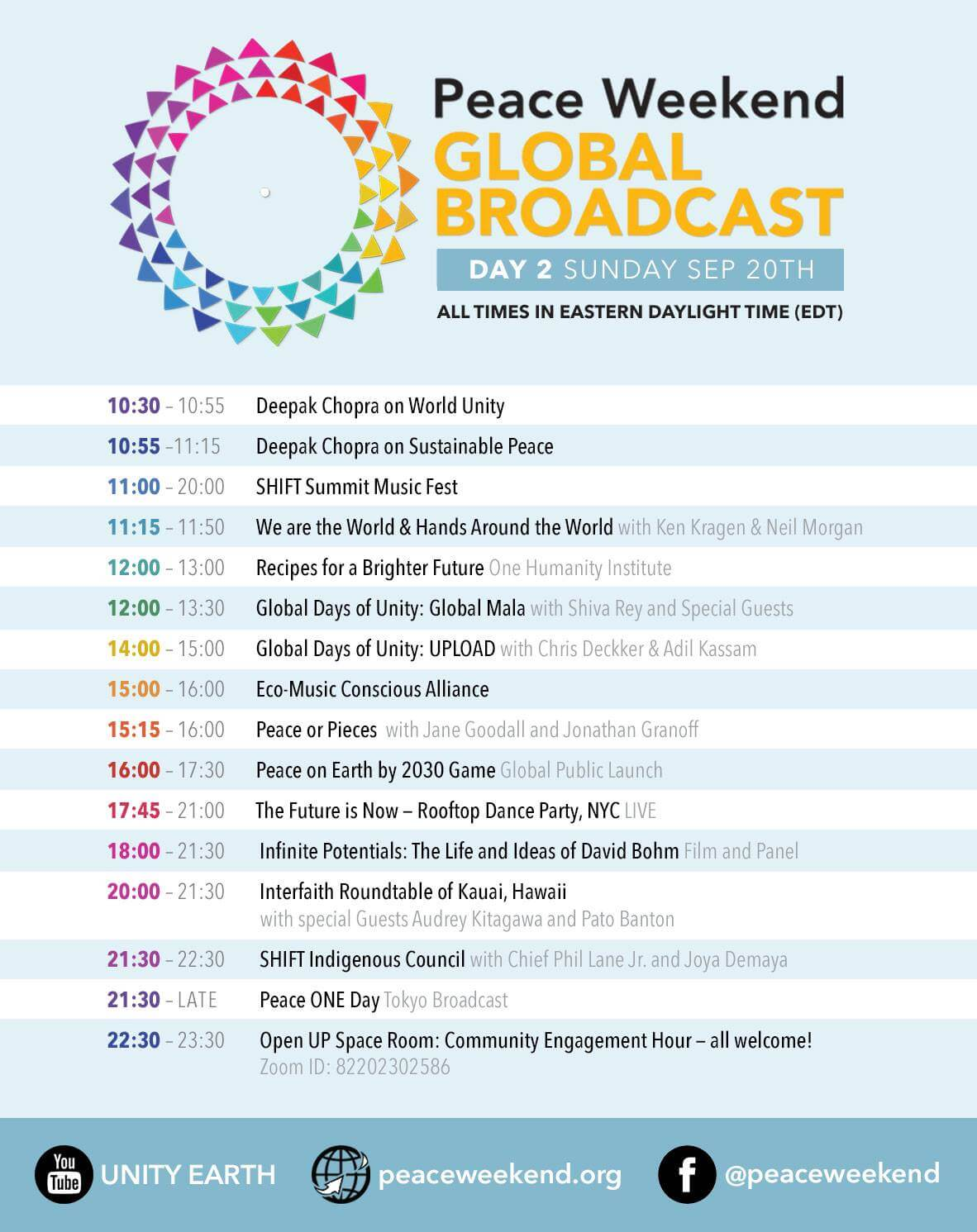 PW Global Broadcast Schedule- Sunday